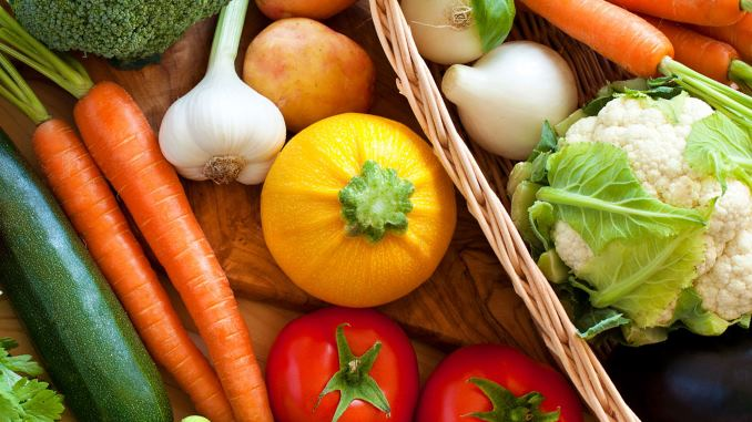 list of vegetables from a to z